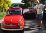 Ant with a red fiat bambina